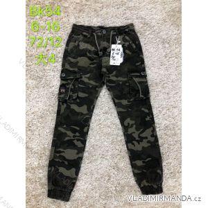 Kalhoty plátěné dětské dorost chlapecké maskáčové (6-16 let) SAD SAD19BK54