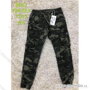 Kalhoty plátěné dorost chlapecké maskáčové (134-164) SAD SAD19BK52