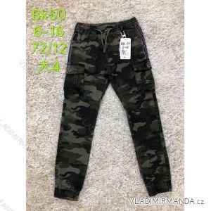 Kalhoty plátěné dětské dorost chlapecké maskáčové (6-16 let) SAD SAD19BK50