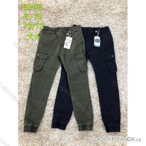 Kalhoty plátěné dětské dorost chlapecké (6-16 let) SAD SAD19BK66