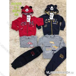 Souprava mikina s tričkem a tepláky dětská chlapecká (1-5) SAD SAD19KK1018