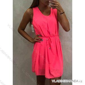 Šaty šifonové tenké dámské letní neon (uni m/l) ITALSKá MóDA IM419682