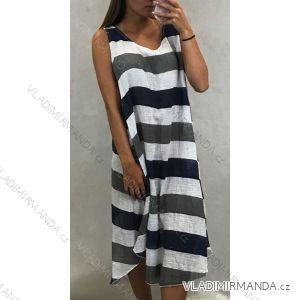 Šaty dámské letní proužek (uni s/m) ITALSKá MóDA IM4198020