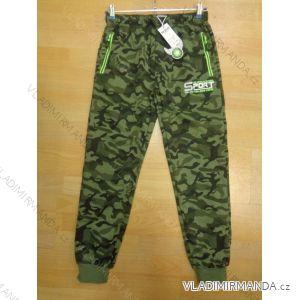Tepláky-maskáče zip na kapse dětské a dorost  chlapecké (134-164) SEZON A257
