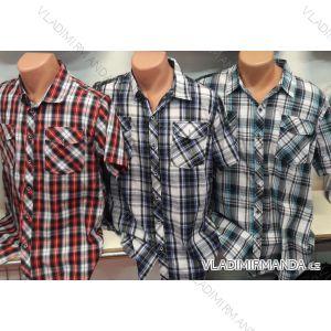 Košile bavlněná krátký rukáv pánská (m-3xl) CANARY COLLECTION CANARY-15