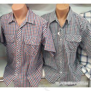 Košile bavlněná krátký rukáv pánská (m-3xl) CANARY COLLECTION CANARY-16