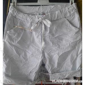 Kalhoty 3/4 krátké plátěné dámské (UNI S-L) ITALSKÁ MÓDA IM519450