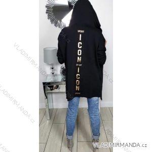 Cardigan dlouhý rukáv dámský (uni s-l) ITALSKá MODA IMT19610
