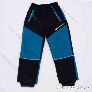 kalhoty Šusťákové zateplené flaušem dětské chlapecké (98-128) WOLF B2972