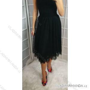 Sukně elegantní dlouhá s krajkou dámská (uni s-l) ITALSKá MóDA IM31819008/DR