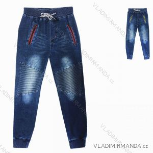 Rifle jeans dětské dorost chlapecké (116-146) KUGO YZ8107