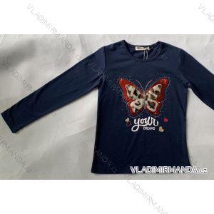 Tričko dlouhý rukáv dětské dívčí (98-128) SEZON Y-3307