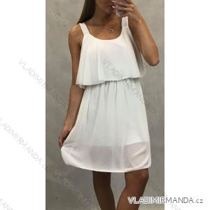 Šaty krátké letní dámské na ramínka (uni s-l) ITALSKá MODA IM1519070