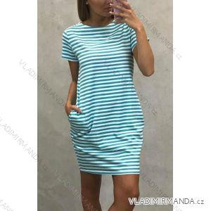 Šaty letní krátký rukáv dámské proužek (uni m/l) ITALSKá MóDA IM119130