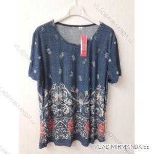 Tričko tunika krátký rukáv dámská nadrozměr (3x-6xll) ITALSKá MóDA WAN19004