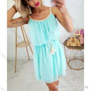 Šaty šifonové letní na ramínka dámské (uni s/m) ITALSKá MóDA IM419476IM1