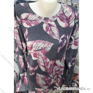 Tričko tunika dlouhý rukáv dámské nadrozměrné (M-3XL) DUNAUONE PM119201