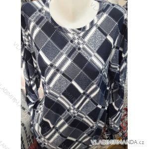 Tričko tunika dlouhý rukáv dámské nadrozměrné (M-3XL) DUNAUONE PM119202