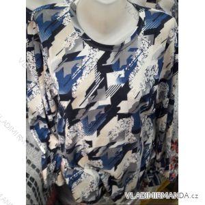 Tričko tunika dlouhý rukáv dámské nadrozměrné (M-3XL) DUNAUONE PM119203