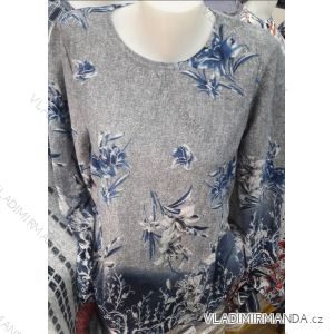 Tričko tunika dlouhý rukáv dámské nadrozměrné (M-3XL) DUNAUONE PM119205