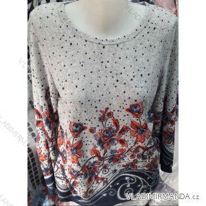 Tričko tunika dlouhý rukáv dámské nadrozměrné (M-3XL) DUNAUONE PM119206