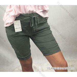 Kalhoty plátěné pružené 3/4 krátké třičtvrtáky dámská (uni s-m) ITALSKá MóDA IM319284