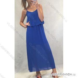 Šaty šifonové dlouhé letní na ramínka dámské (uni s/m) ITALSKá MODA IM119660