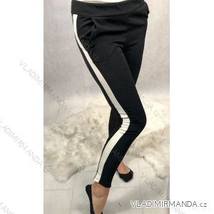 Kalhoty společenské dlouhé dámské polyesterové (uni s/m) ITALSKá MóDA IMT19329-1