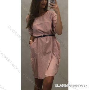 Šaty volnočasové 3/4 dlouhý rukáv dámské (uni M/XL) ITALSKá MODA IM719407