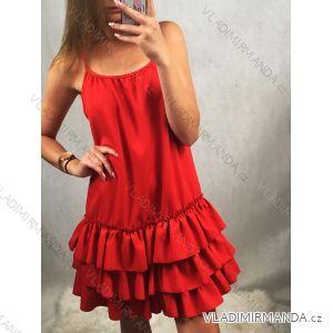 Šaty na ramínkách elegantní společenké dámské (uni s/m) ITALSKá MÓDA IMT19576