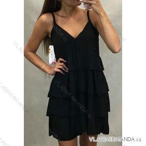 Šaty elegantní na raminkách společenké dámské (uni s/m) ITALSKá MÓDA IMT19623