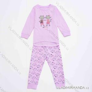 Pyžamo dlouhé kojenecké dětské dívčí chlapecké (86-104) WOLF S2951