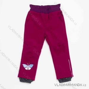 Kalhoty softshellové zateplené flaušem kojenecké dětské dívčí (86-110) WOLF 2991