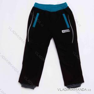 Kalhoty softshellové zateplené flaušem kojenecké dětské chlapecké (86-110) WOLF 2993