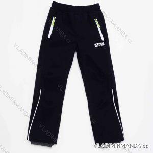 Kalhoty softshellové zateplené flaušem dorost dětské chlapecké (116-146) WOLF B2994B