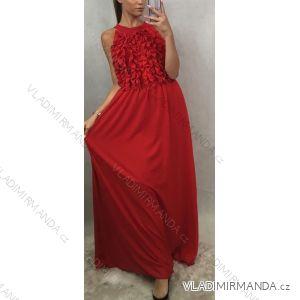 Šaty dlouhé elegantní bez rukávů dámské (uni s/m) ITALSKá MODA IMT19577