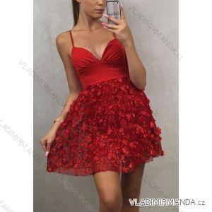 Šaty elegantní krátké dámské na ramínka (uni s/m) ITALSKá MODA IM919700