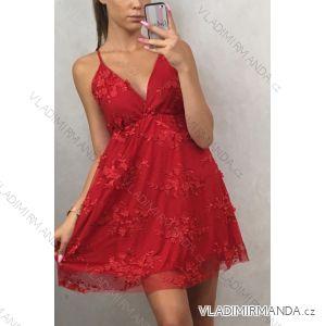 Šaty elegantní krátké dámské na ramínka (uni s/m) ITALSKá MODA IM9195900