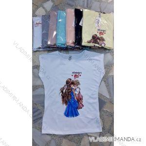 Tričko krátký rukáv dámské maminka baby girl (s-l) Turecká móda IMT19455