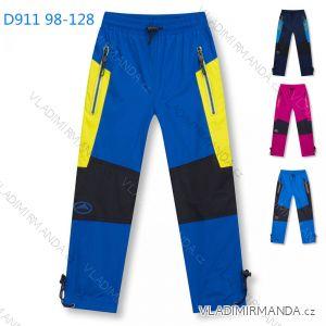 Kalhoty šusťákové zimní zateplené fleecem dětské dívčí a chlapecké (98-128) KUGO D911
