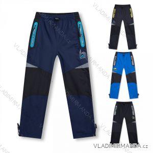 Kalhoty šusťákové zimní zateplené fleecem dětské dívčí a chlapecké (98-128) KUGO D915