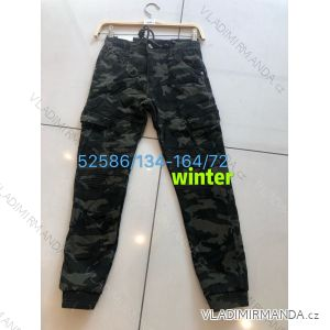 Kalhoty maskáčové zateplené flaušem dorost chlapecké (134-164) SEAGULL SEA1952586
