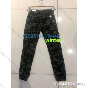 Kalhoty maskáčové zateplené flaušem dorost chlapecké (134-164) SEAGULL SEA1952587