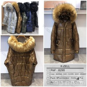 Bunda zimní s kapucí a kožešinou (s-l) K-ZELL ITALSKá MODA KZE198295