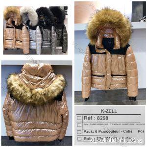 Bunda zimní s kapucí a kožešinou (s-l) K-ZELL ITALSKá MODA KZE198298