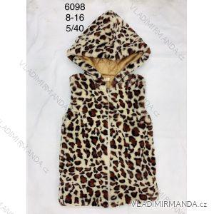 Vesta teplá na zip s kapucí dorost dívčí (8-16 let) FAD FAD196098