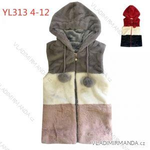 Vesta teplá kožíšek dětská dorost dívčí (4-12 let) KUGO YL313