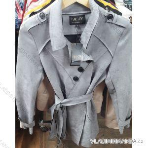 Bunda dlouhá broušená koženka dámská (s-xl) HF Woman collection IM9198903