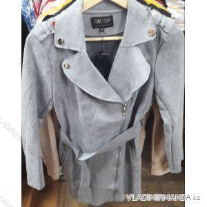 Bunda dlouhá broušená koženka dámská (s-xl) HF Woman collection IM9198729