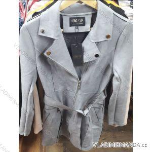 Bunda dlouhá broušená koženka dámská (s-xl) HF Woman collection IM9198901